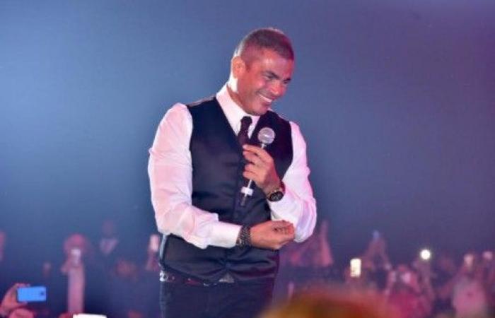 """عمرو دياب يجدد شائعات زواجه من دينا الشربيني في حفل """"الماسة"""""""