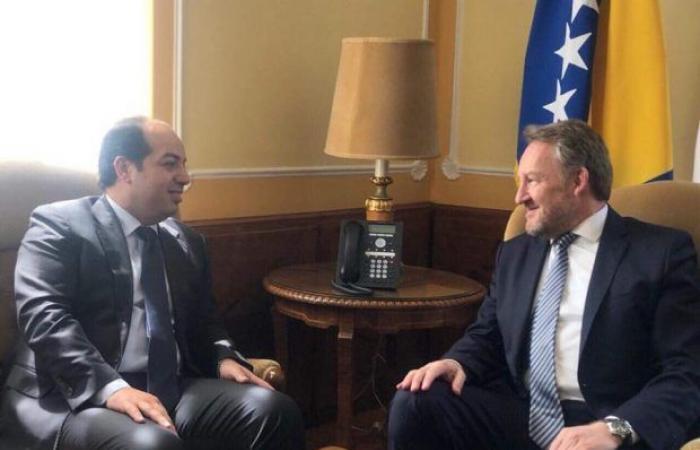 معيتيق يبحث مع رئيس مجلس الرئاسة بجمهورية البوسنة والهرسك العلاقة بين البلدين