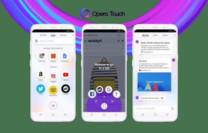 أهم ميزات متصفح أوبرا الجديد لهواتف أندرويد Opera Touch