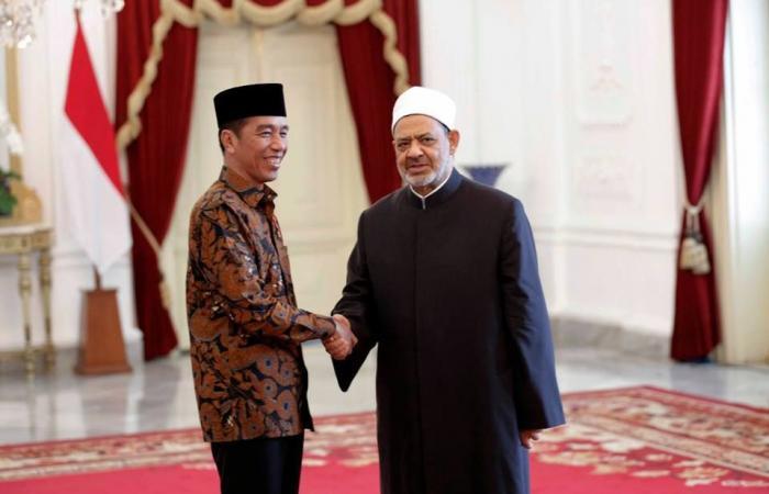 شيخ الأزهر يجتمع مع الرئيس الإندونيسي لبحث القضايا ذات الاهتمام المشترك