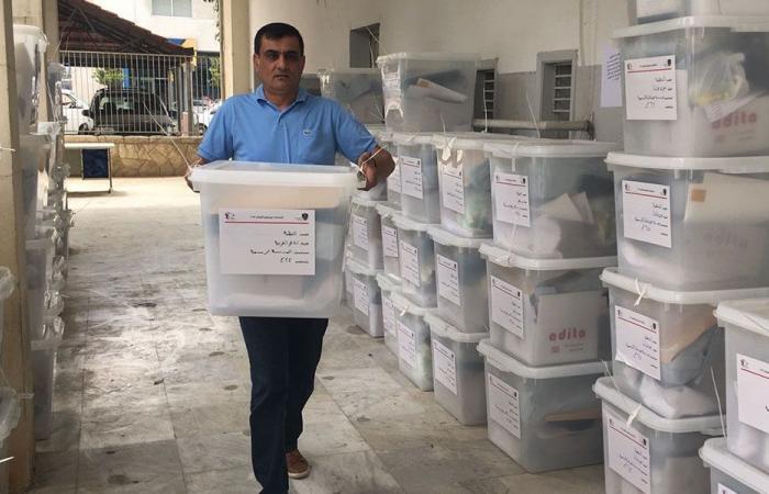وصول 253 صندوق اقتراع إلى سرايا النبطية