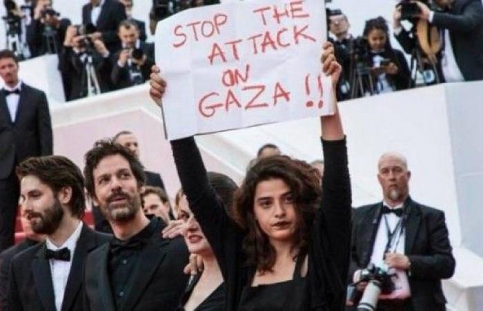"""نجمة لبنانية ترفع راية لغزة في مهرجانات """"كان"""""""