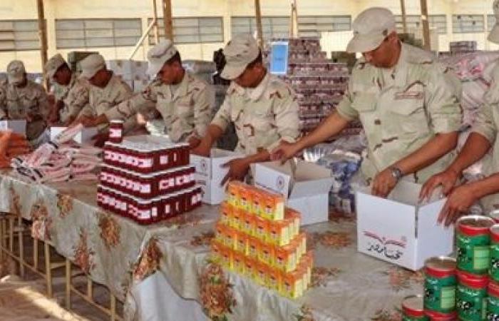 القوات المسلحة تطرح 2.7 مليون عبوة غذائية بنصف الثمن في المناطق الأكثر احتياجا