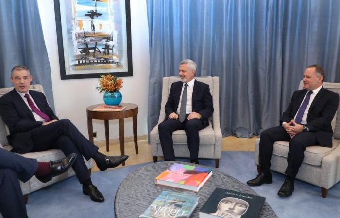 فرنجية استقبل بونافون بحضور السفير الفرنسي