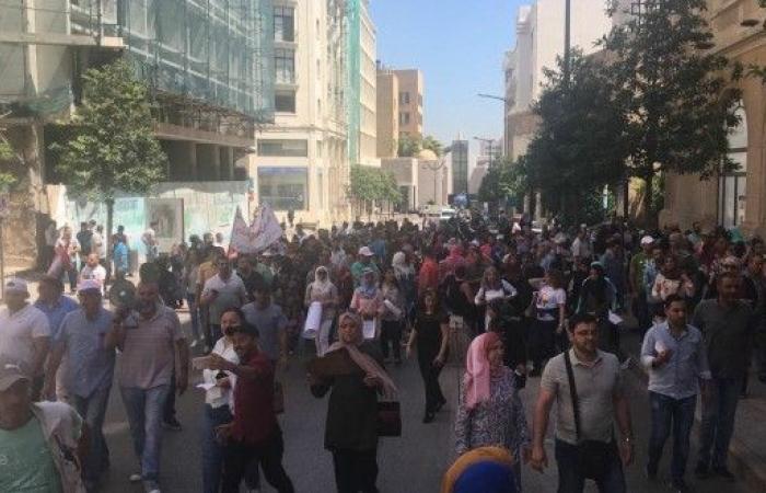 إعتصام لموظفي المستشفايات الحكومية برياض الصلح
