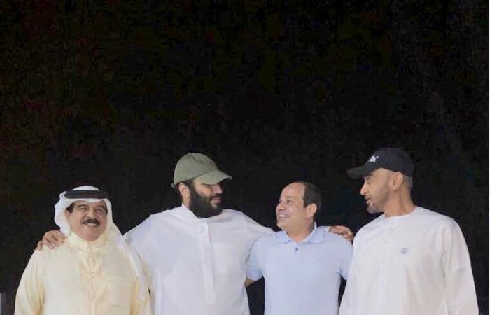 مسئول سعودى ينشر صورة لقاء ودى لقادة الرباعى العربى