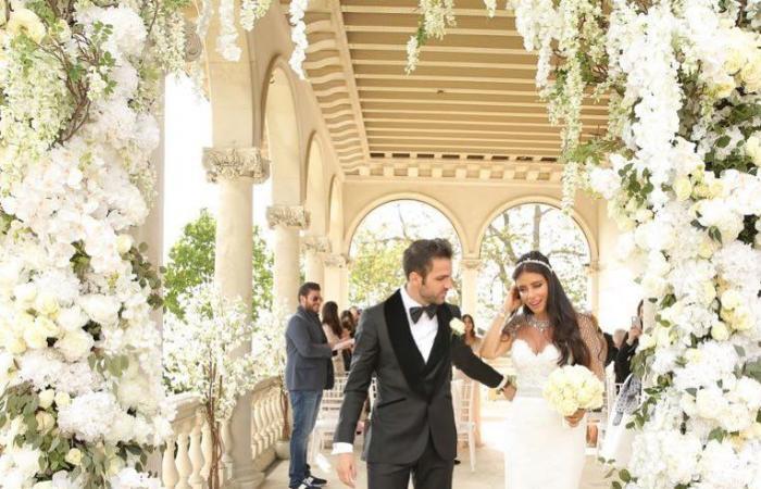 هكذا بدت إطلالة دانيللا سمعان في حفل زفافها من فابريغاس