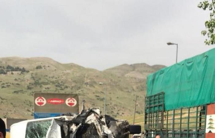 بالصور… حادث سير مروع على طريق ضهر البيدر