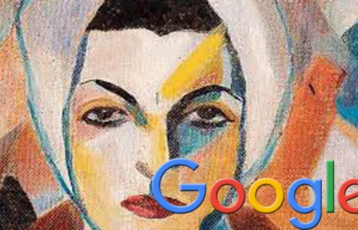 """""""غوغل"""" تحتفل بذكرى ميلاد """"سلوى شقير"""" أول فنانة تجريدية لبنانية"""