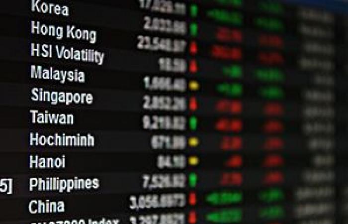 تباين أداء مؤشرات الآسيوية في أخر جلسات الأسبوع والربع الفصلي الجاري