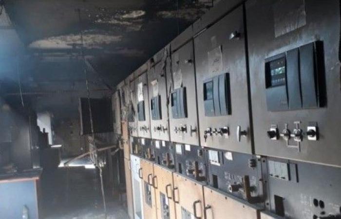 احتراق محطة الكهرباء في النبطية.. وقبيسي يطالب الاسراع باصلاح الاعطال