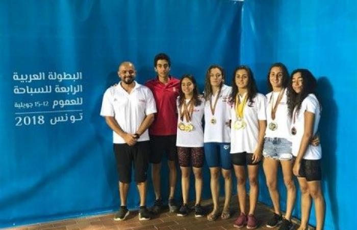 البطولة العربية بالسباحة: 11 ميدالية ملوّنة للبنان
