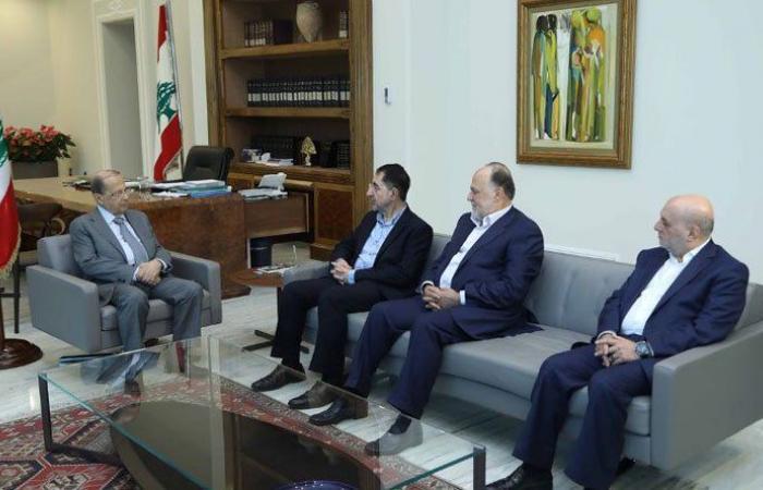 عون استقبل الحاج حسن وعمار وشري ووفدا من منظمة الصحة العالمية