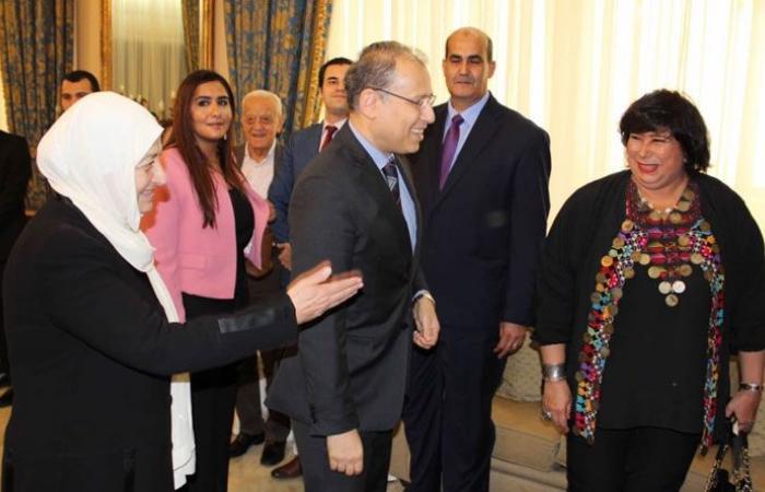 الحريري عرضت ووزيرة الثقافة المصرية التعاون المشترك وتكريم الفنانة فايزة أحمد