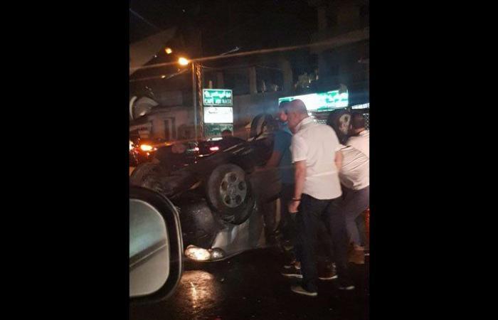 بالصورة: 4 جرحى بحادث سير على المسلك الشرقي لأوتوستراد حالات
