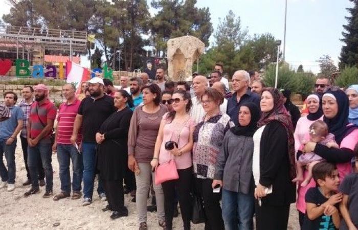 اعتصام في بعلبك للمطالبة بوقف الاعتداء على نبع البياضة