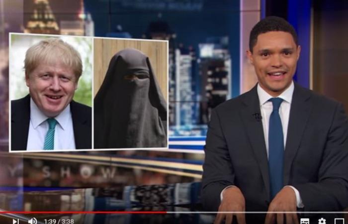 """مذيع مشهور يهاجم وزيرا بريطاني سابق بسبب """"البرقع"""" (شاهد)"""