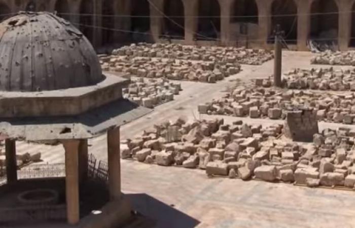 سوريا | يورونيوز : 100 مهندس و نحات و حرفي مستمرون بعملية ترميم الجامع الأموي الكبير في حلب ( فيديو )