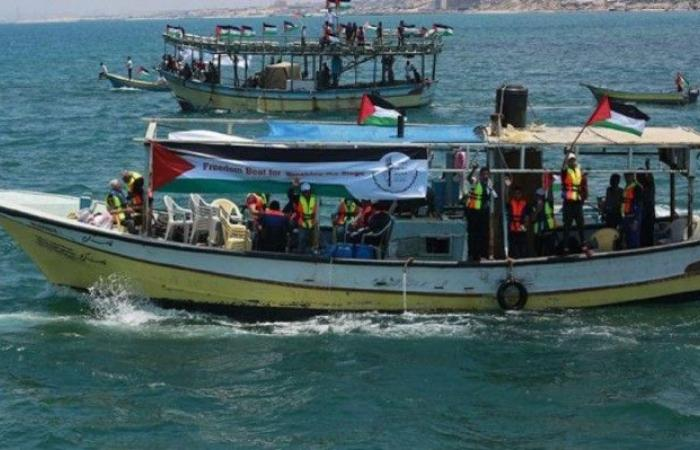 فلسطين | مسيرة بحرية خامسة قبالة سواحل غزة