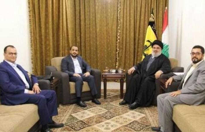 اليمن | عبدالسلام وصهر عبدالملك الحوثي يرتمون في احضان «نصر الله» والسفارة اليمنية تعلق