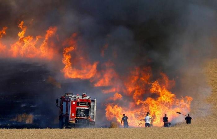 فلسطين | 5 حرائق داخل السياج الفاصل شرق قطاع غزة