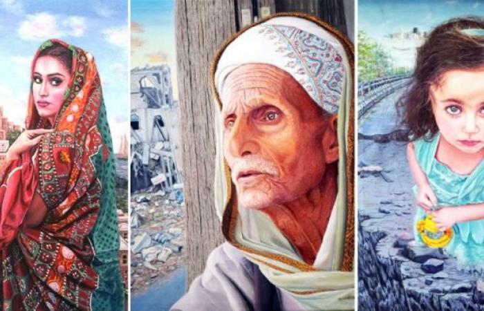 اليمن | ردفان المحمدي .. فنان يمني يزرع الجمال في حقول الحرب