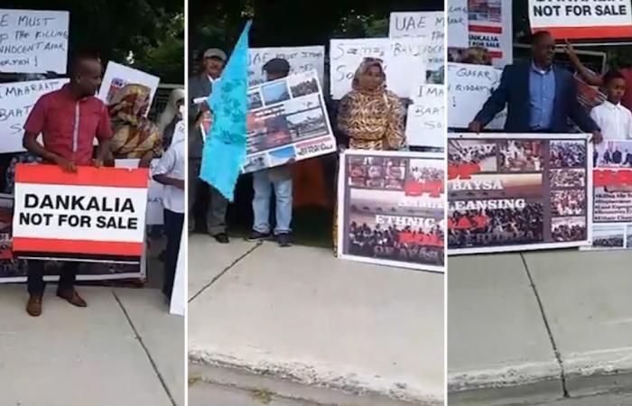إريتريون بكندا يتظاهرون ضد الإمارات