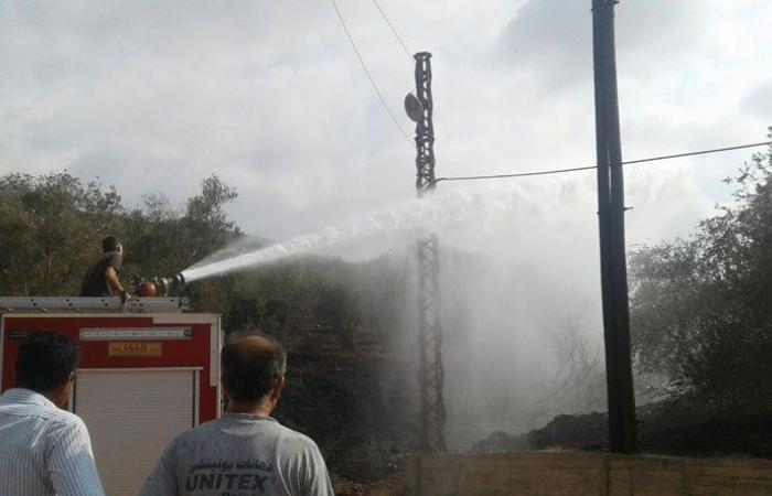 حريق يقضي على 4000 متر من أشجار الزيتون في حيزوق