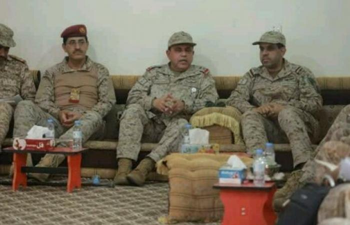 """اليمن   الجيش اليمني يناقش مع قيادة التحالف المستجدات العسكرية واللواء الشهري من تخوم """"صنعاء"""" ينقل رسالة الملك """"سلمان"""""""