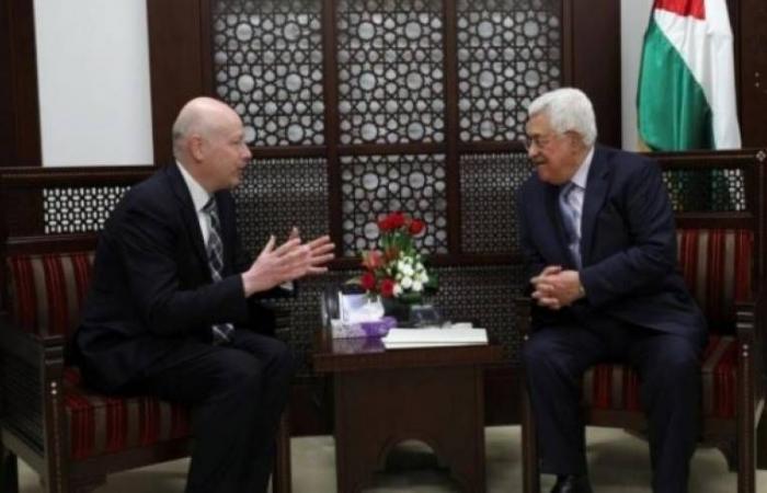 """فلسطين   المبعوث الامريكي """"غرينبلات يحذر السلطة : هناك من سيملأ الفراغ"""