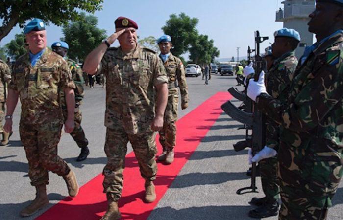 زيارة قائد الجيش إلى مقر قيادة قوات الأمم المتحدة المؤقتة في لبنان