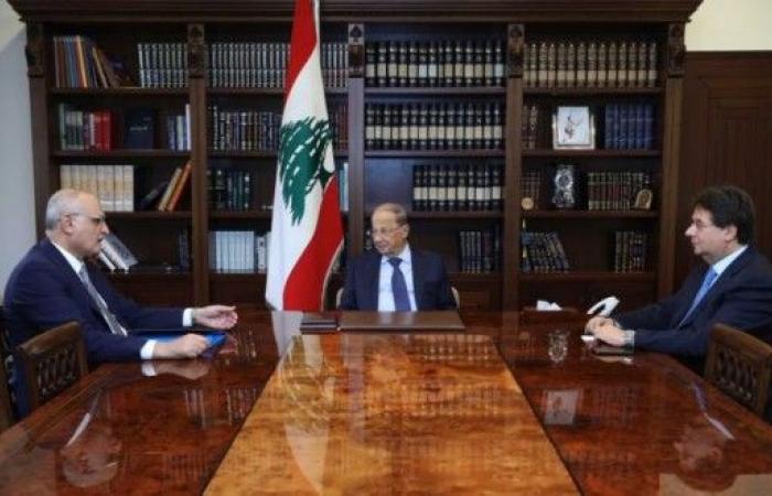 عون عرض مع علي حسن خليل وكنعان الأوضاع الاقتصادية