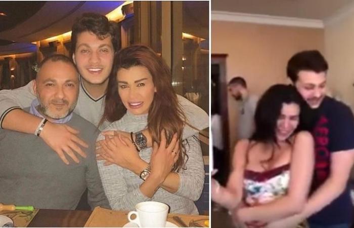 ابن ممثلة لبنانية ينقذها من الانتحار وينفي قيامه بضربها