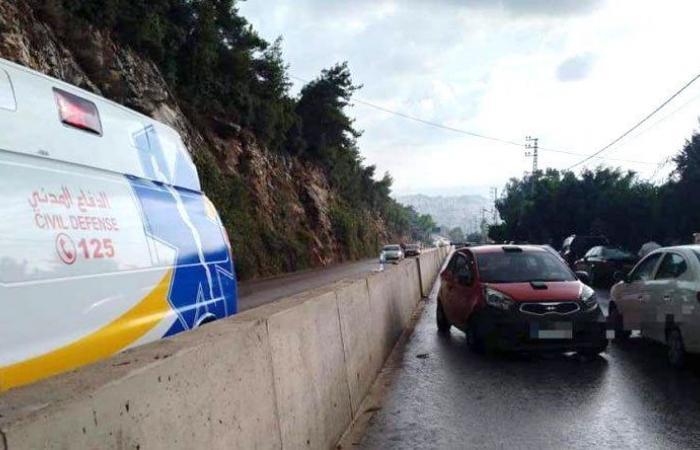 جريح في حادث سير على طريق عام غدير – حريصا