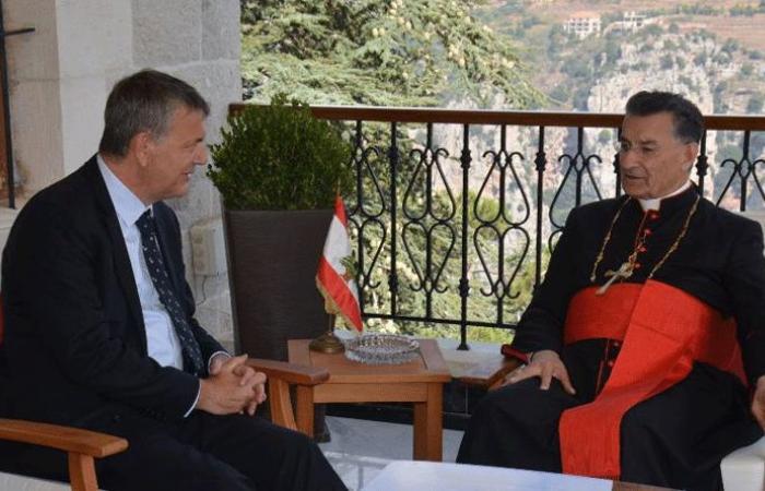 الراعي عرض التطورات مع لازاريني وسفير الارجنتين