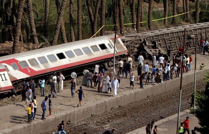 خروج قطار جديد عن السكة في مصر وإصابة 12 شخصا