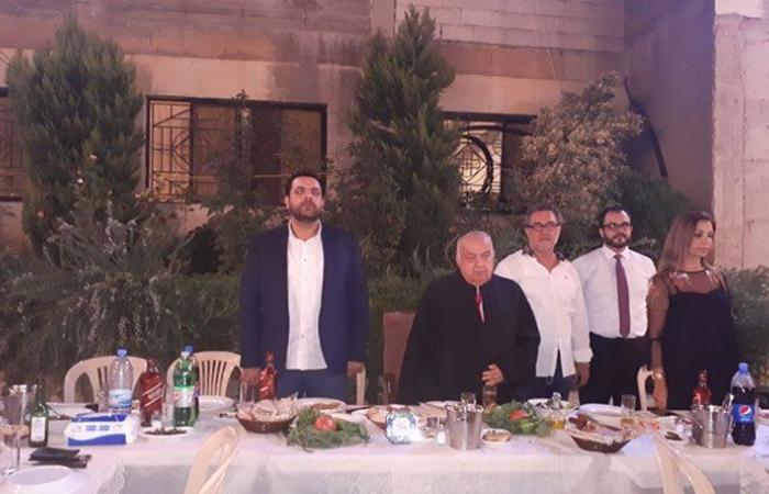عشاء في رعية مار مارون خان بزيزا في الكورة برعاية بو جوده