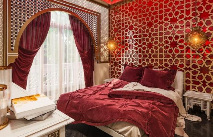 صور: غرف نوم كلاسيك بلمسات مغربية