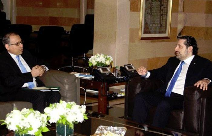 النجاري: أعربت للحريري عن دعم مصر لإنجاز التشكيل