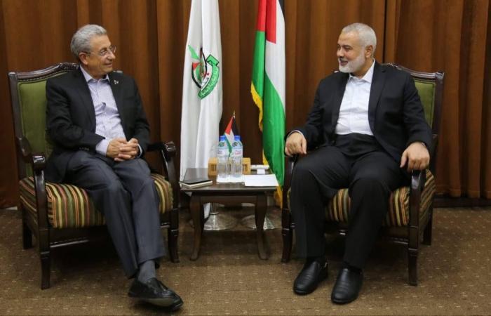 فلسطين   هنية يستقبل وفد حركة المبادرة الوطنية برئاسة البرغوثي بغزة