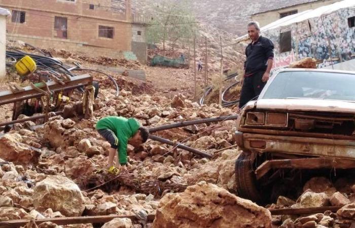 بالصور: رفع أضرار السيول في الفاعور البقاعية