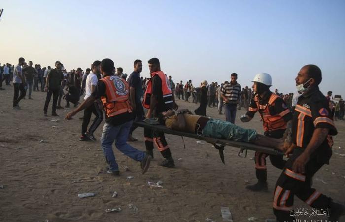فلسطين   4 اصابات برصاص الاحتلال على حدود غزة