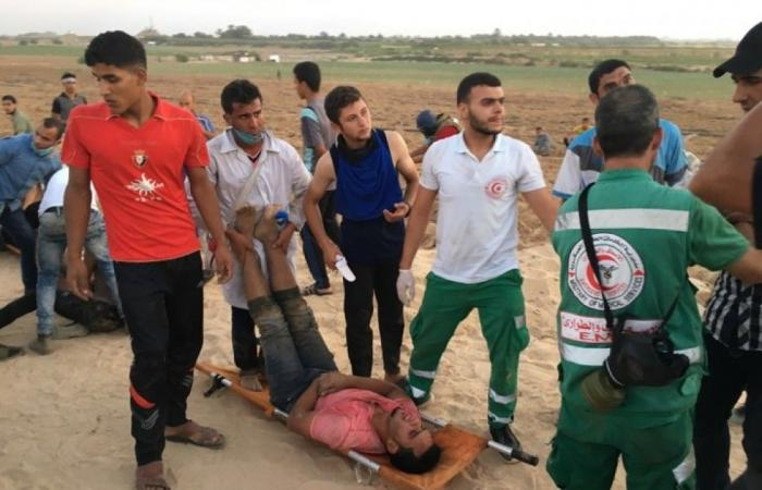 فلسطين | الصحة: إصابات قاتلة ومعقدة بصفوف متظاهري مسيرة العودة