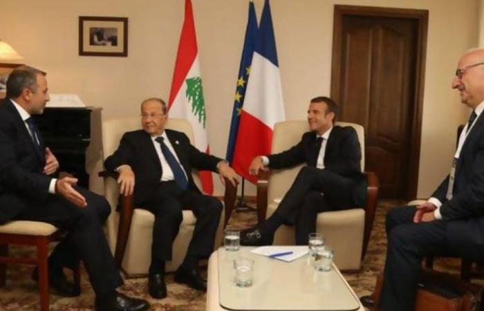 """ماكرون لعون وباسيل: التزموا """"النأي"""" ولا مصلحة للبنان بمواجهة واشنطن"""
