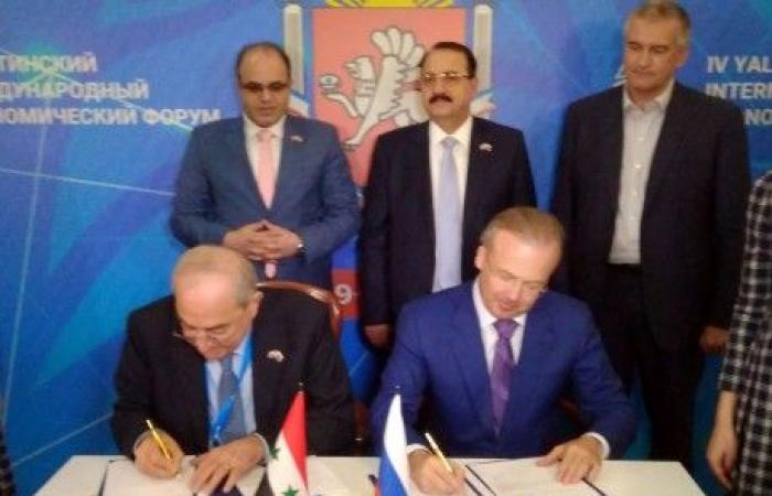 ممثلو سوريا وشبه جزيرة القرم يعتزمون توقيع اتفاقيات تعاون في دمشق