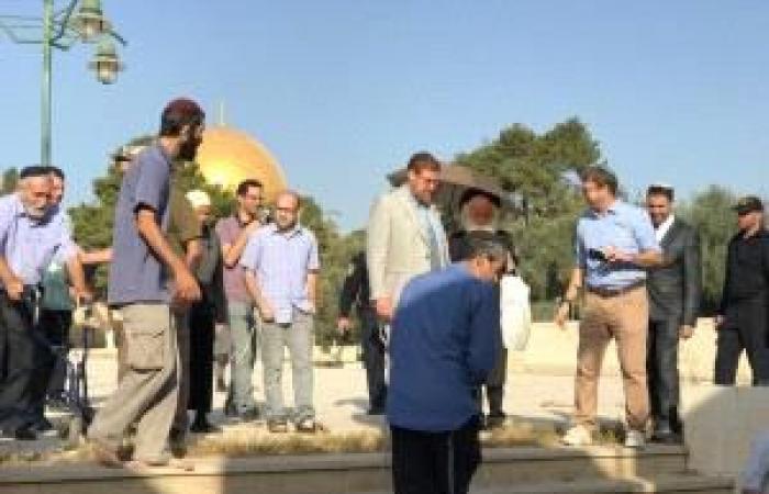 """فلسطين   عضو الكنيست """"غليك"""" يقود اقتحاما جديدا للمسجد الأقصى صباح اليوم"""