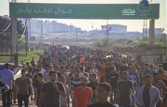 فلسطين | الهيئة الوطنية لمسيرات العودةتدعو لمواصلة الزحف الجمعة المقبلة