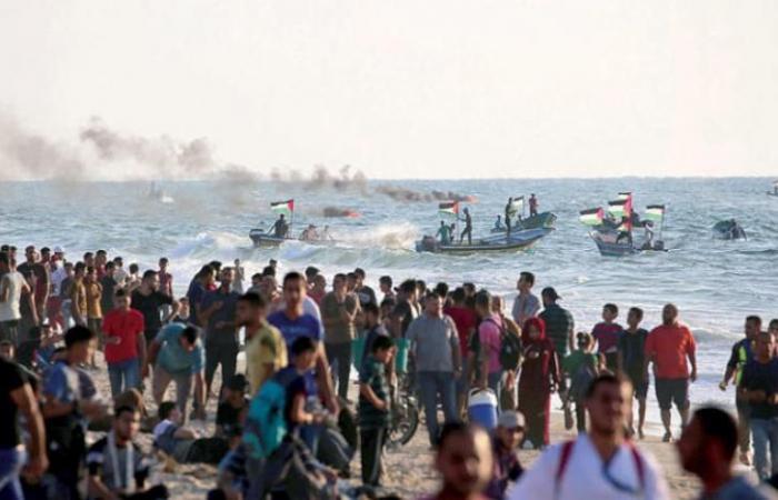 فلسطين   غزة: استشهاد شاب متأثراً بإصابته خلال مظاهرة المسير البحري