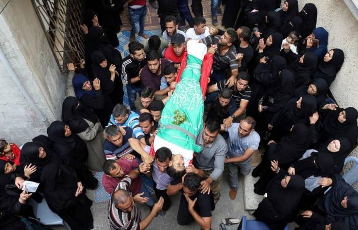 فلسطين   تشييع 6 شهداء في قطاع غزة ورام الله