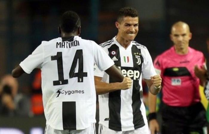 ثنائية رونالدو تنقذ يوفنتوس من أول خسارة في الدوري الايطالي